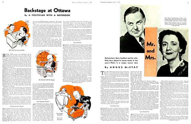 Article Preview: Backstage at Ottawa, April 1st 1937 1937 | Maclean's