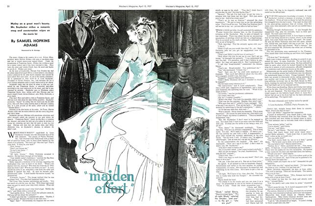 "Article Preview: ""maiden effort"", APRIL 15th 1937 1937 