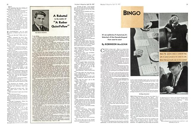 Article Preview: BINGO, APRIL 15th 1937 1937 | Maclean's