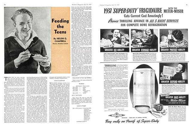 Article Preview: Feeding the Teens, APRIL 15th 1937 1937 | Maclean's