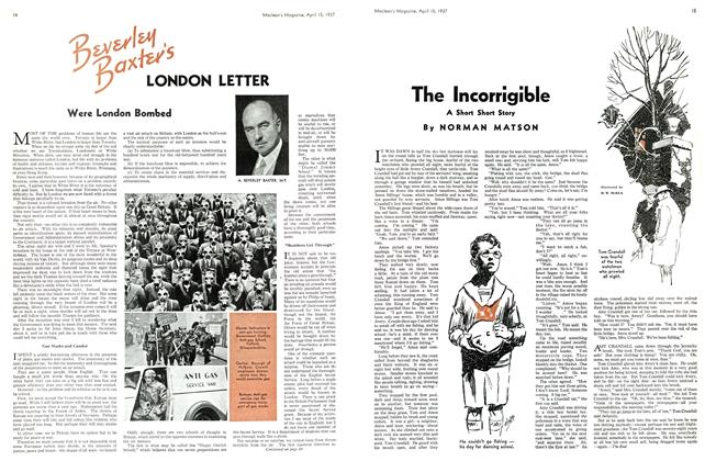 Article Preview: The Incorrigible, APRIL 15th 1937 1937 | Maclean's