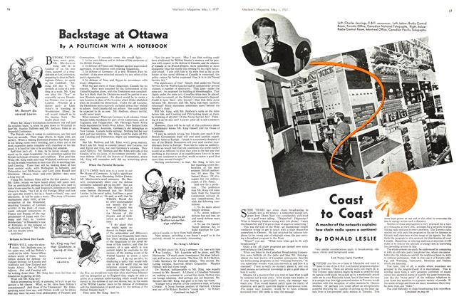 Article Preview: Backstage at Ottawa, MAY 1st, 1937 1937 | Maclean's