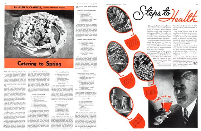 Article Preview: Catering to Spring, MAY 1st, 1937 1937 | Maclean's