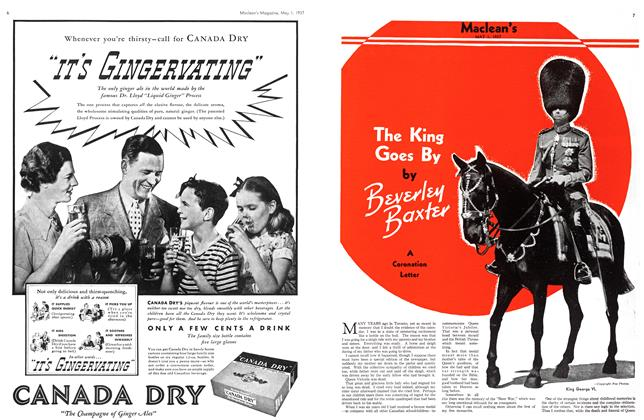 Article Preview: The King Goes By, MAY 1st, 1937 1937 | Maclean's