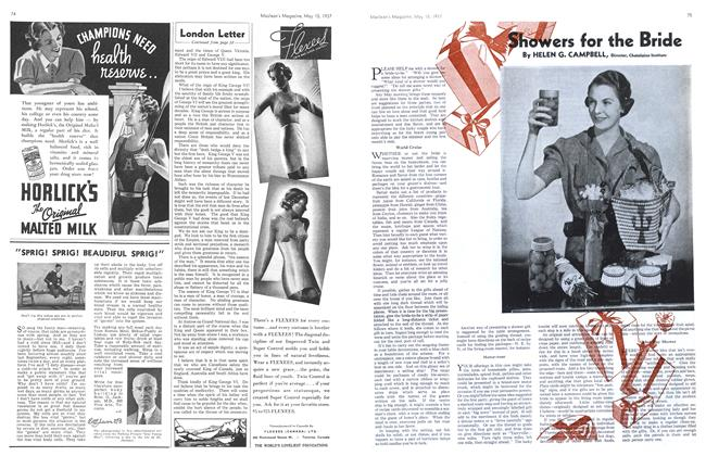 Article Preview: Showers for the Bride, May 1937 | Maclean's