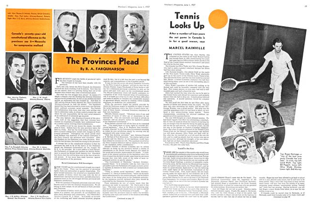 Article Preview: Tennis Looks Up, JUNE 1st, 1937 1937 | Maclean's