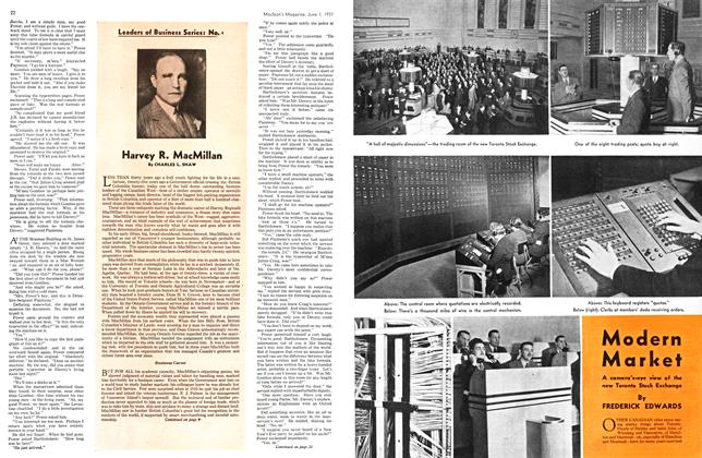 Article Preview: Harvey R. MacMillan, JUNE 1st, 1937 1937 | Maclean's