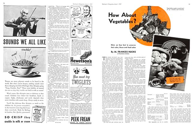 Article Preview: How About Vegetables?, JUNE 1st, 1937 1937 | Maclean's