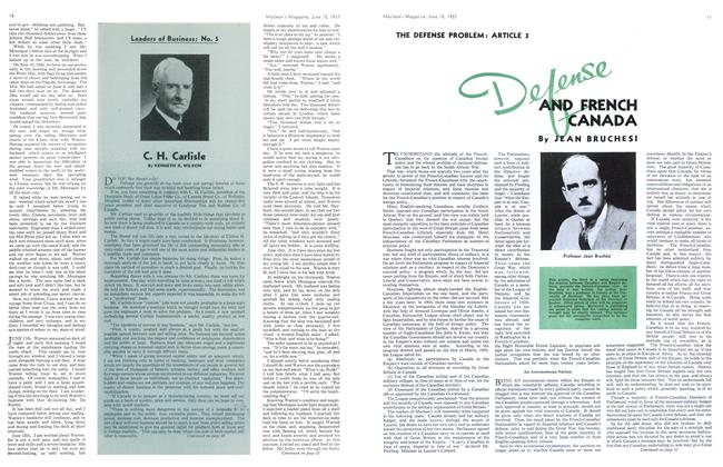 Article Preview: Defense AND FRENCH CANADA, June 1937   Maclean's
