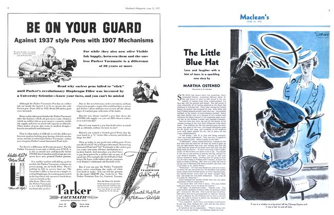 Article Preview: The Little Blue Hat, June 1937 | Maclean's