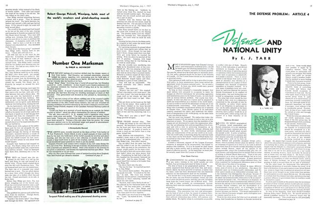 Article Preview: Number One Marksman, JULY 1st, 1937 1937 | Maclean's