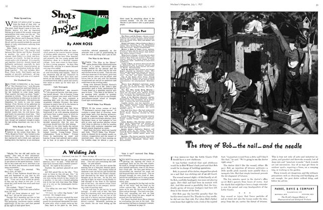 Article Preview: Shots and Angles, JULY 1st, 1937 1937 | Maclean's