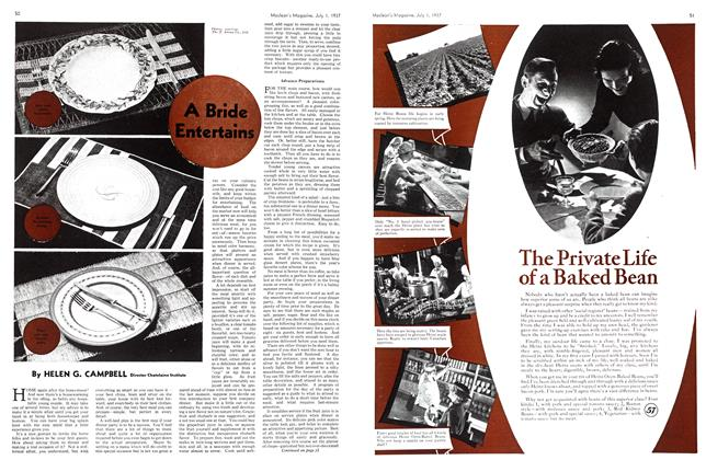 Article Preview: A Bride Entertains, JULY 1st, 1937 1937 | Maclean's