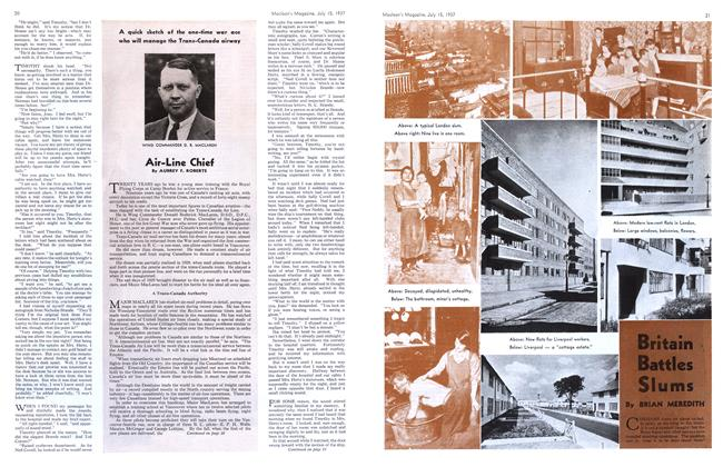 Article Preview: Air-Line Chief, JULY 15th, 1937 1937 | Maclean's
