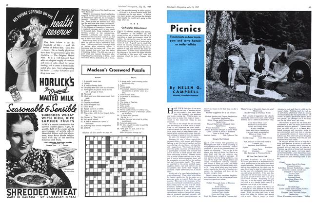 Article Preview: Picnics, JULY 15th, 1937 1937 | Maclean's