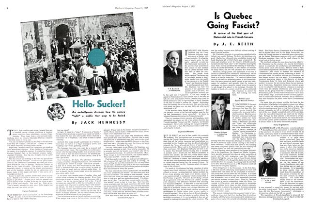 Article Preview: Is Quebec Going Fascist?, AUGUST 1st, 1937 1937 | Maclean's