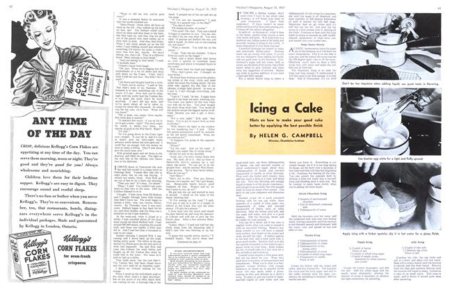 Article Preview: Icing a Cake, August 1937   Maclean's