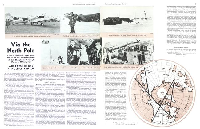 Article Preview: Via the North Pole, August 1937   Maclean's