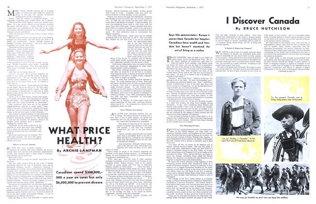 Article Preview: I Discover Canada, September 1937 | Maclean's