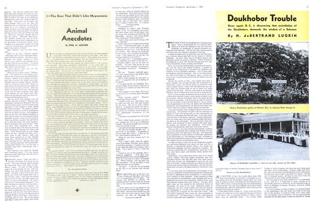 Article Preview: Doukhobor Trouble, September 1937 | Maclean's
