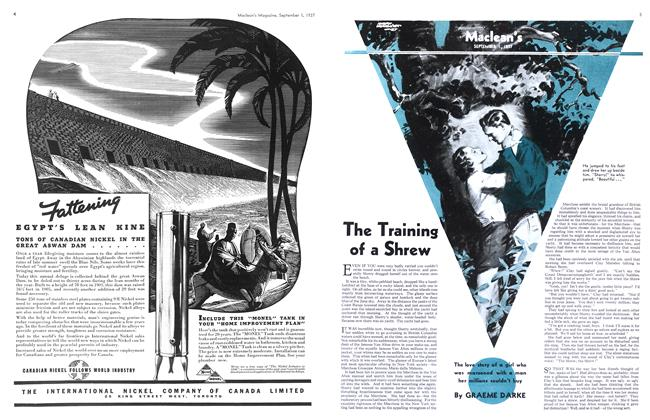 Article Preview: The Training of a Shrew, September 1937 | Maclean's