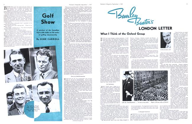 Article Preview: Golf Show, September 1937 | Maclean's
