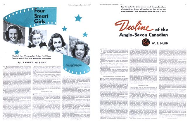 Article Preview: Four Smar Girlst, September 1937 | Maclean's