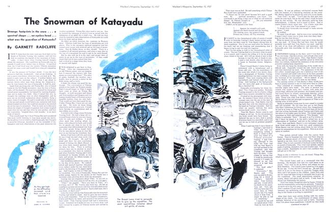 Article Preview: The Snowman of Katayadu, September 1937 | Maclean's