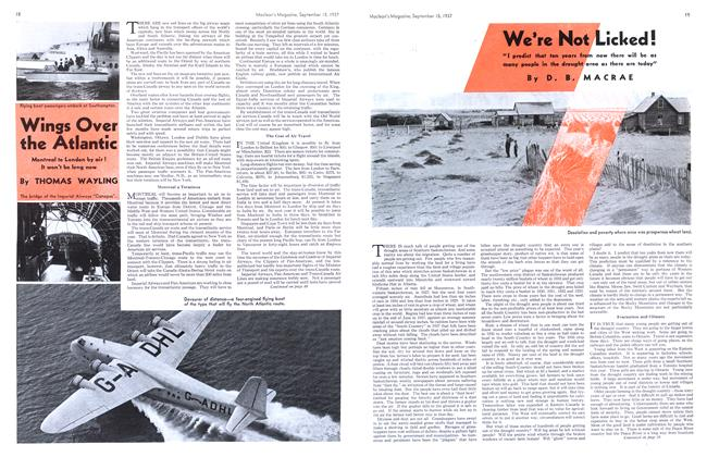Article Preview: Wings Over the Atlantic, September 1937 | Maclean's