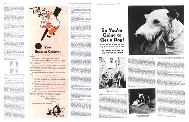 Article Preview: So You're Going to Get a Dog!, September 1937 | Maclean's