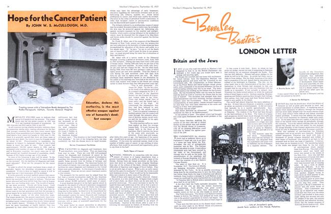 Article Preview: Hope for the Cancer Patient, September 1937 | Maclean's
