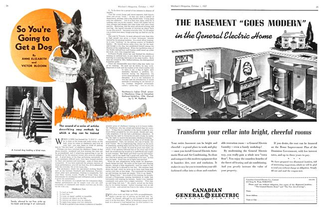 Article Preview: So You're Going to Get a Dog, October 1937   Maclean's