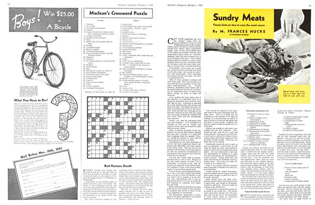 Article Preview: Sundry Meats, October 1937 | Maclean's