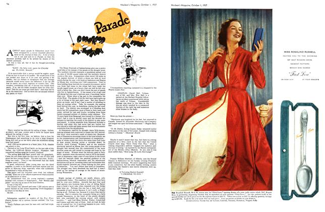 Article Preview: Parade, October 1937 | Maclean's