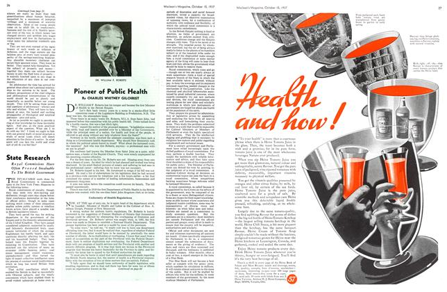 Article Preview: Pioneer of Public Health, October 1937 | Maclean's