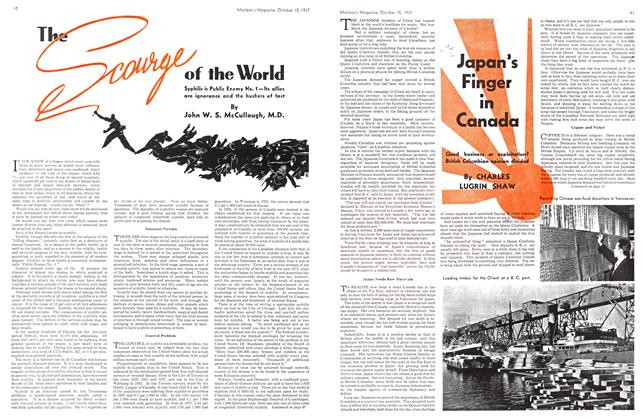 Article Preview: Japan's Finger in Canada, October 1937 | Maclean's