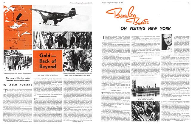 Article Preview: Gold— Back of Beyond, October 1937 | Maclean's