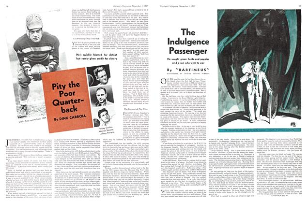 Article Preview: Pity the Poor Quarterback, November 1937 | Maclean's