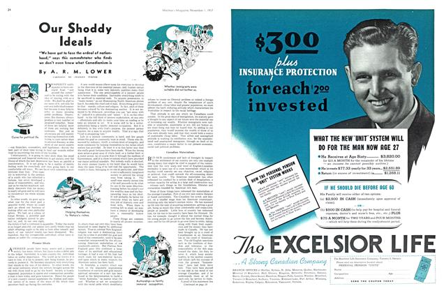 Article Preview: Our Shoddy Ideals, November 1937 | Maclean's