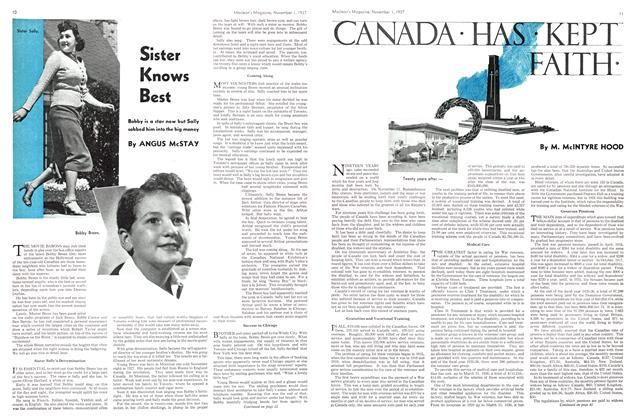 Article Preview: CANADA • HAS • KEPT FAITH•, November 1937 | Maclean's