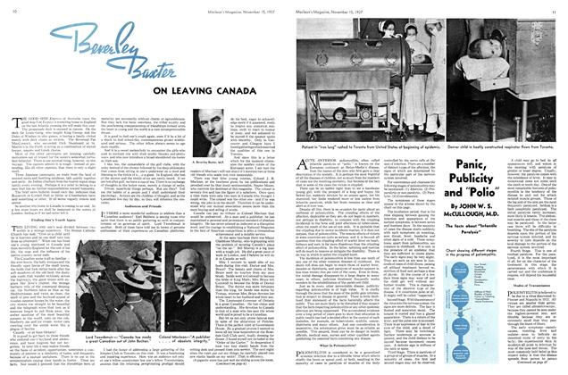 Article Preview: Beverley Baxter ON LEAVING CANADA, November 1937 | Maclean's