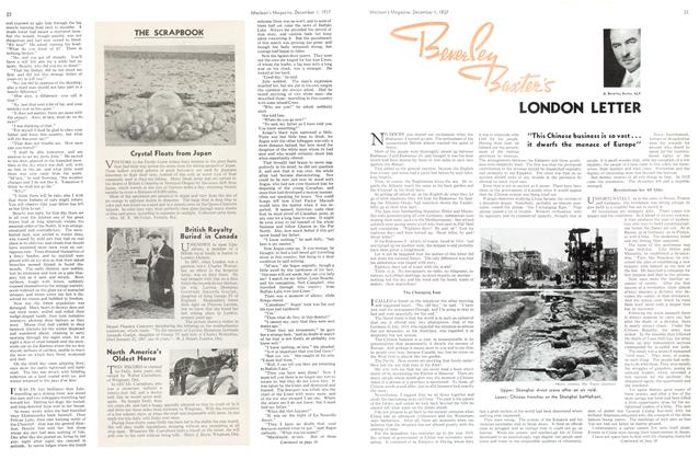 Article Preview: LONDON LETTER, December 1937 | Maclean's