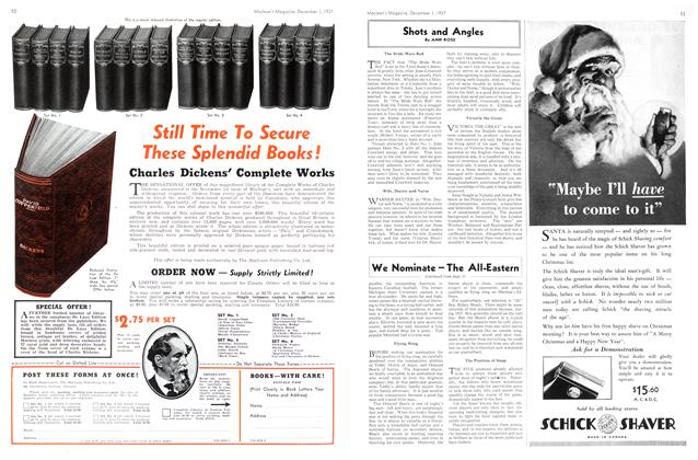 Article Preview: Shots and Angles, December 1937 | Maclean's