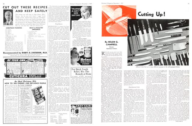 Article Preview: Cutting Up!, December 1937 | Maclean's