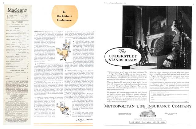 Article Preview: In the Editor's Confidence, December 1937 | Maclean's