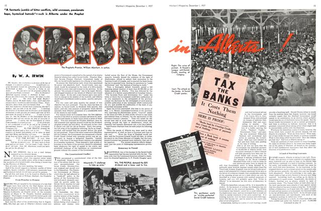Article Preview: CRISIS IN ALBERTA, December 1937 | Maclean's