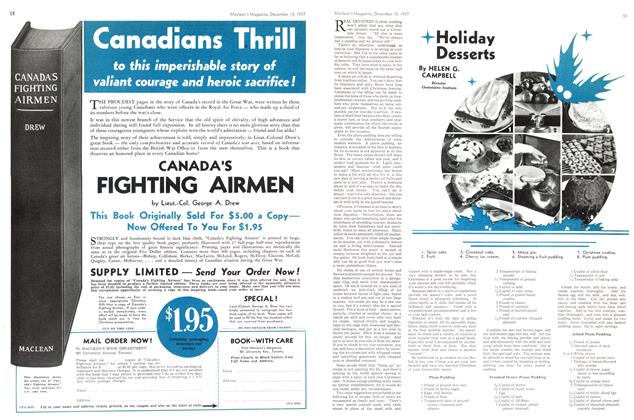 Article Preview: Holiday Desserts, December 1937 | Maclean's
