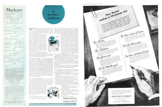 Article Preview: In the Confidence, December 1937 | Maclean's