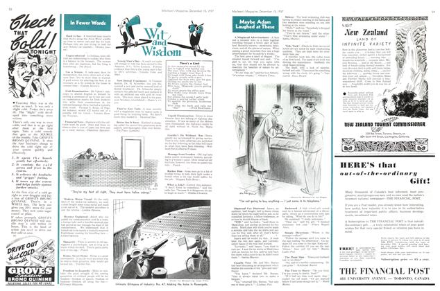 Article Preview: Wit and Wisdom, December 1937 | Maclean's