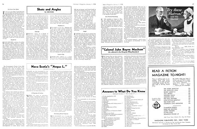 Article Preview: Shots and Angles, January 1938   Maclean's